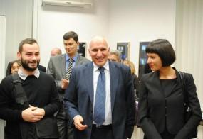 Официално откриване на УниКредит Студио с двама от авторите, представени в галерията – българите Бора Петкова и Станимир Генов.