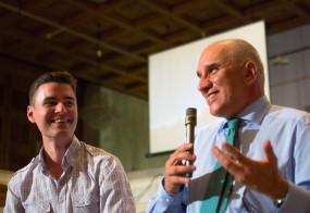 Левон Хампарцумян по време на участието му в Space Challenges – първата среща, насочена към бързо предизвикващите промяна технологии в процесите на правене на бизнес